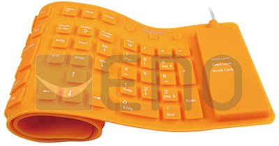 LogiLink Tastatur LogiLink USB / PS/2 Flexibel Wasserfest orange