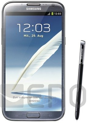 Samsung N7100 Galaxy Note II titan gray