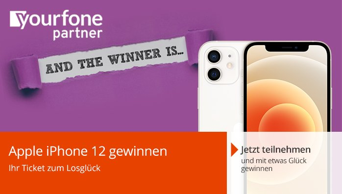 yourfone Apple iPhone 12 gewinnen
