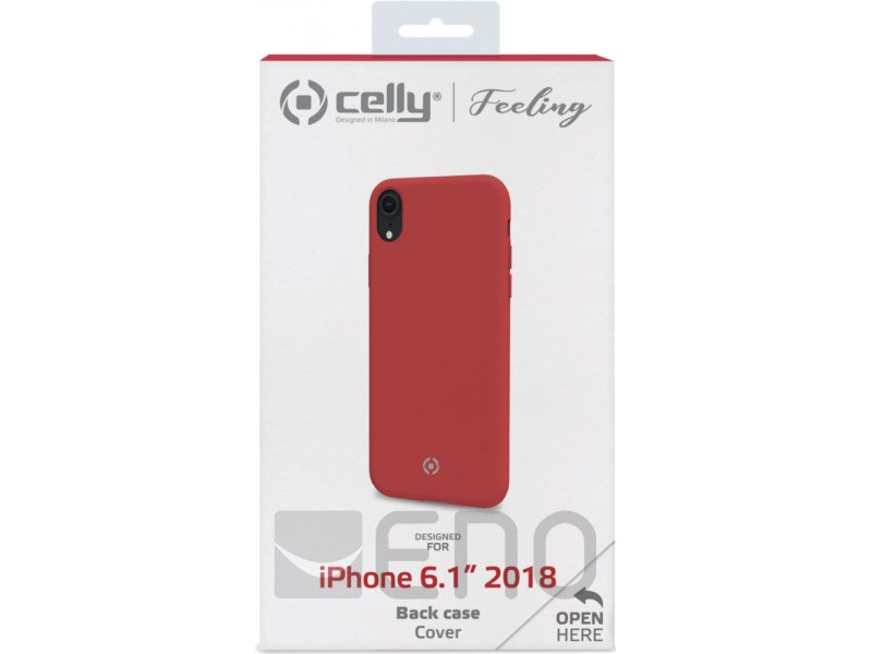 celly feeling cover apple iphone xr red. Black Bedroom Furniture Sets. Home Design Ideas