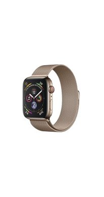 Apple Watch Series 4 Cell (LTE) 40 mm Edelstahl gold, Milanese gold